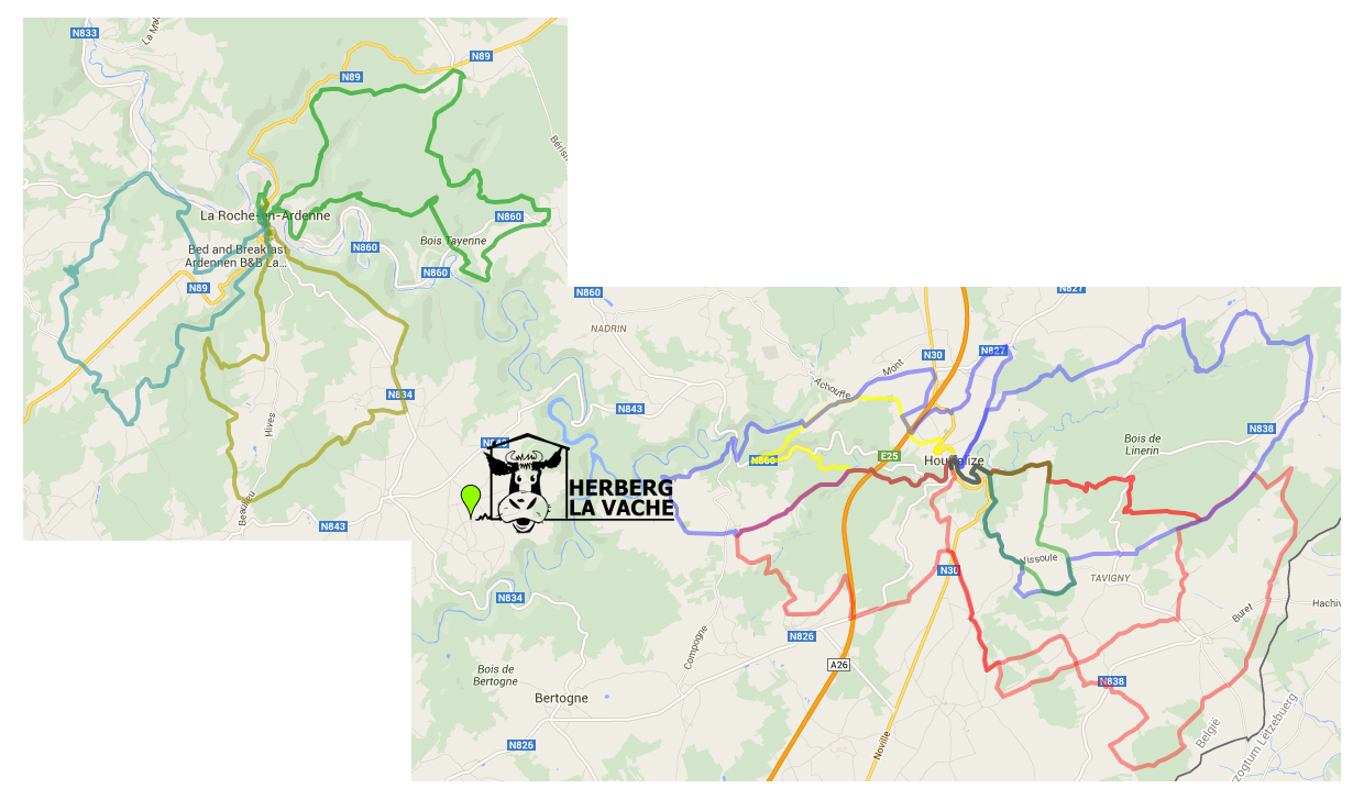 MTB routes Ardennen